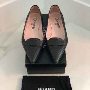 Chanel Python Ballet Flats